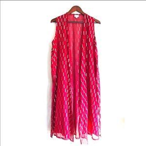 LuLaRoe Elegant Collection Joy Cardigan Red sz M✨